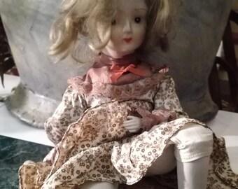 Vintage, doll, doll, China, porcelain, Eduscho,