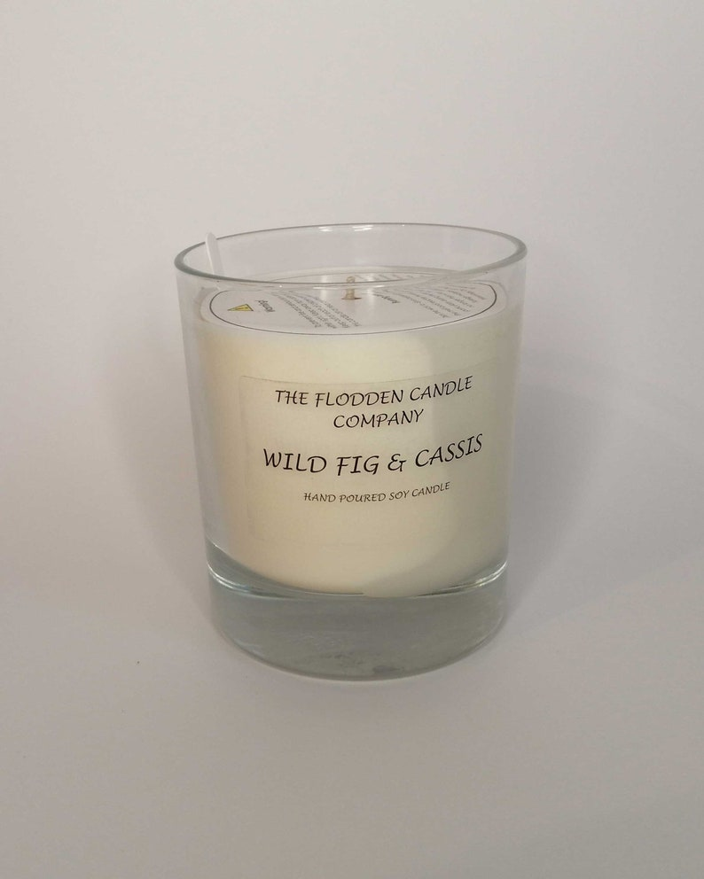 Fig & Cassis  Scented Candle  Soy Candle  White Candle in image 0