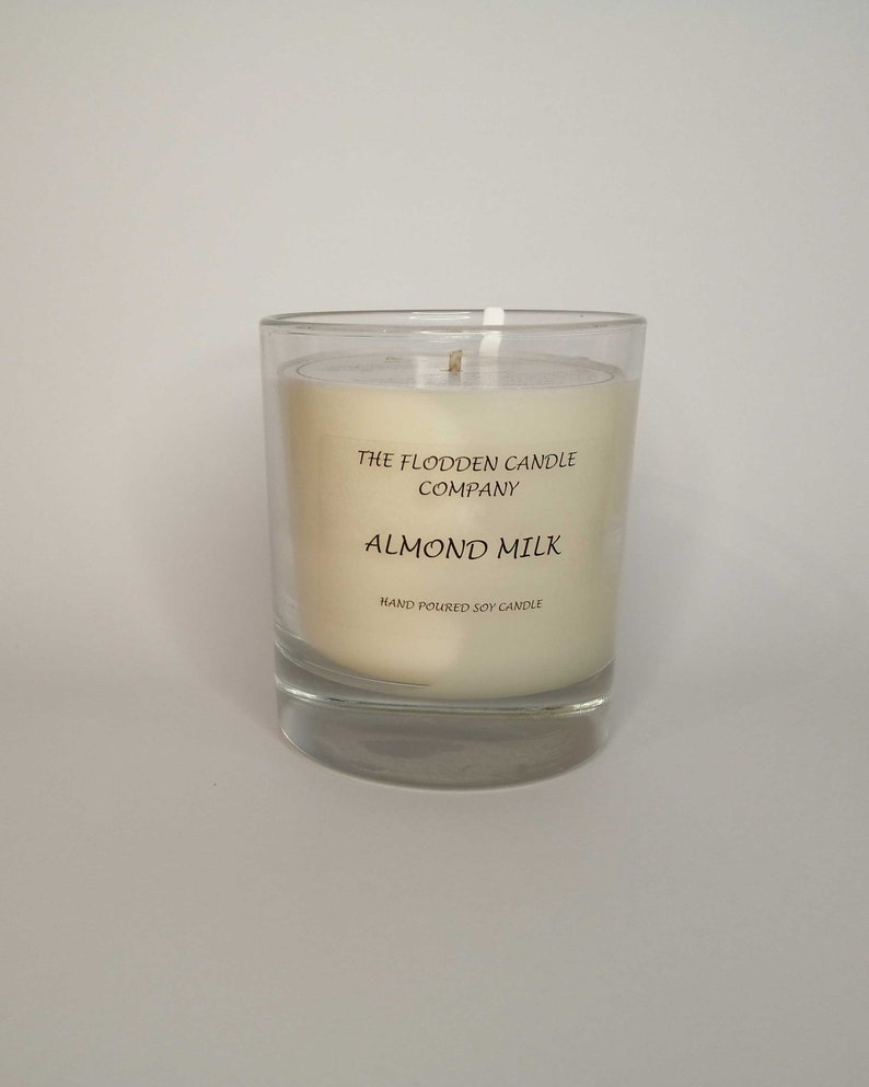 Almond Milk  Scented Candle  Soy Candle  White Candle in image 0