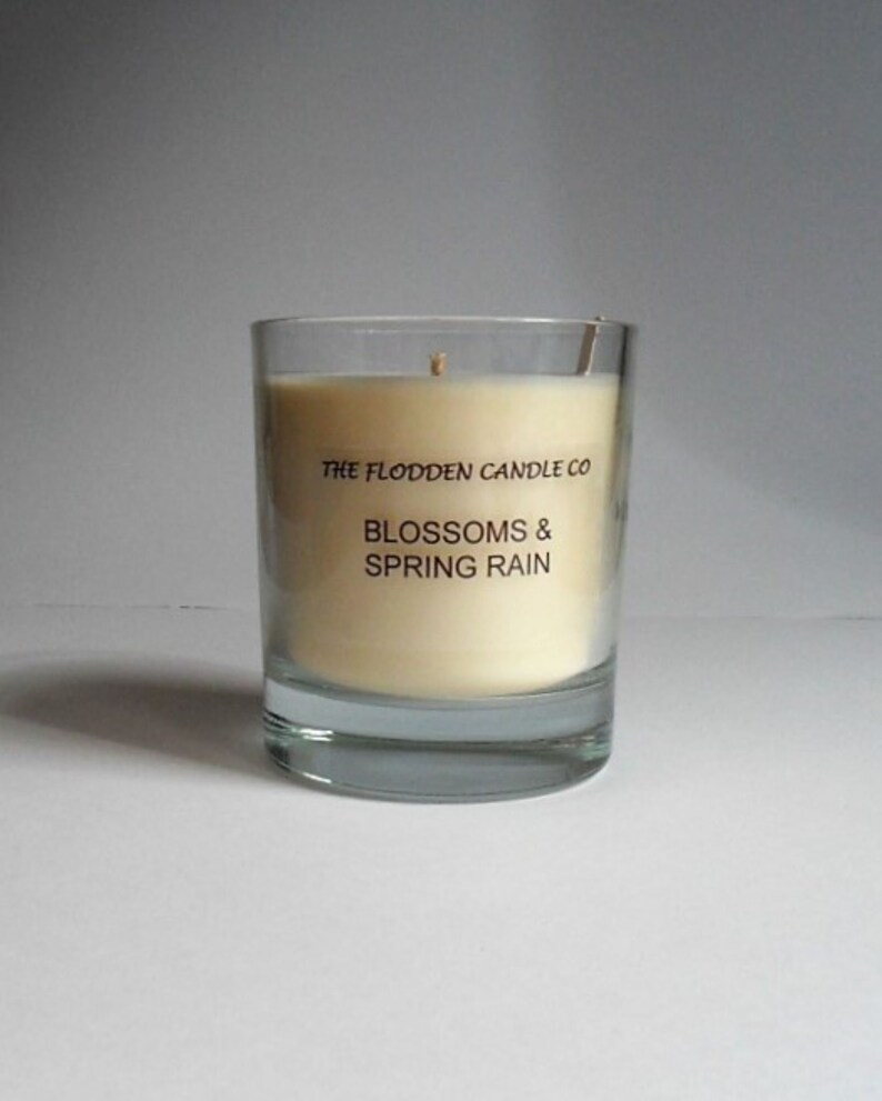 Blossoms & Spring Rain  Scented Candle  Vegetable Wax Candle image 0
