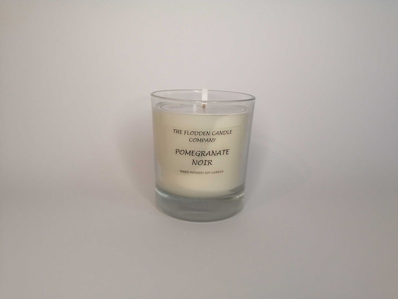 Pomegranate Noir  Scented Candle  Soy Candle  White Candle image 0