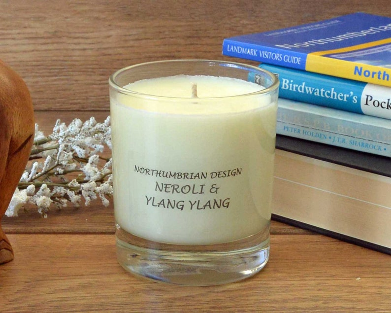 Neroli & Ylang Ylang  Scented Candle  Soy Candle  White image 0