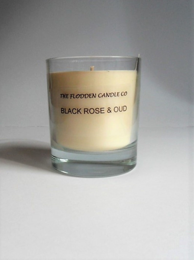 Black Rose & Oud  Scented Candle  Vegetable Wax Candle  image 0