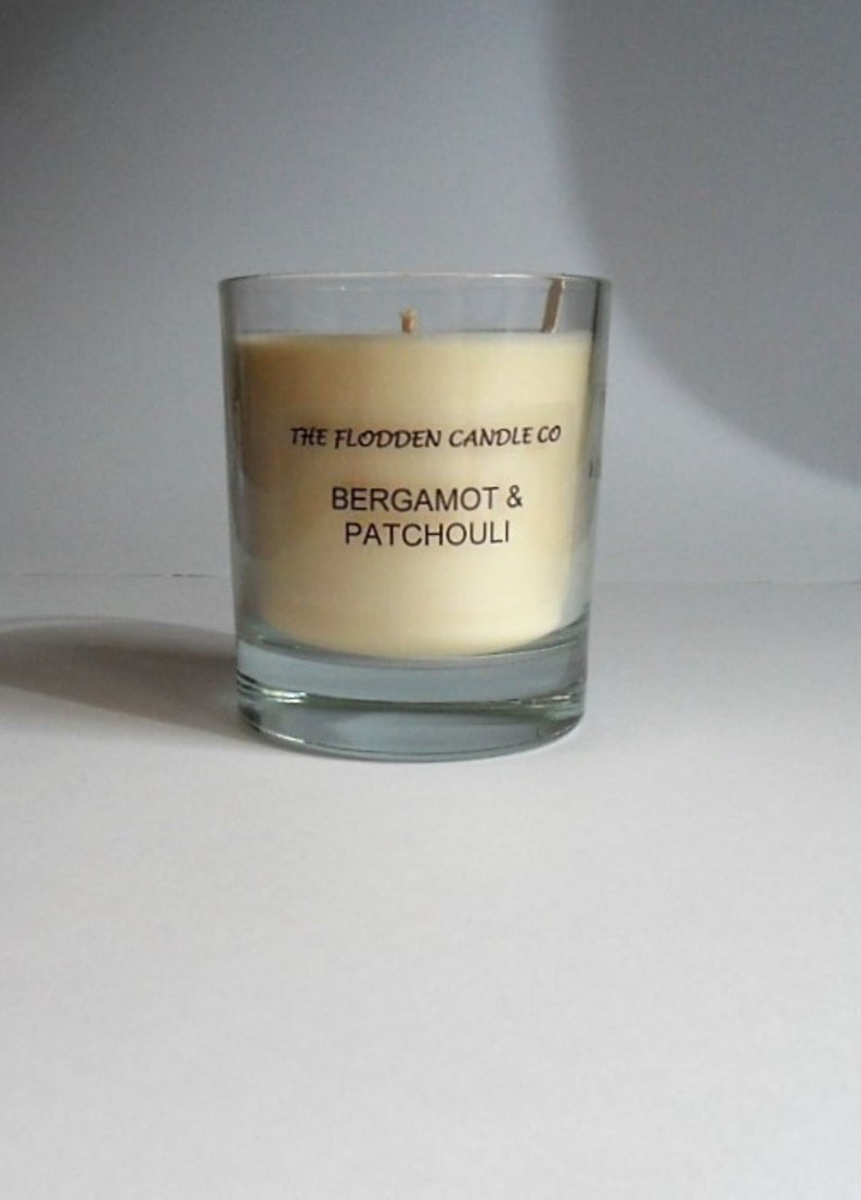 Bergamot & Patchouli  Scented Candle Vegetable Wax Candle  image 0