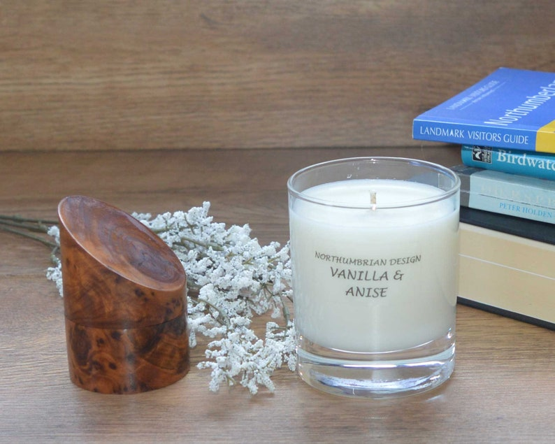 Vanilla & Anise  Scented Candle  Soy Candle  White Candle image 0