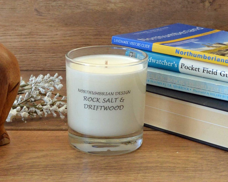 Rock Salt & Driftwood  Scented Candle  Soy Candle  White image 0
