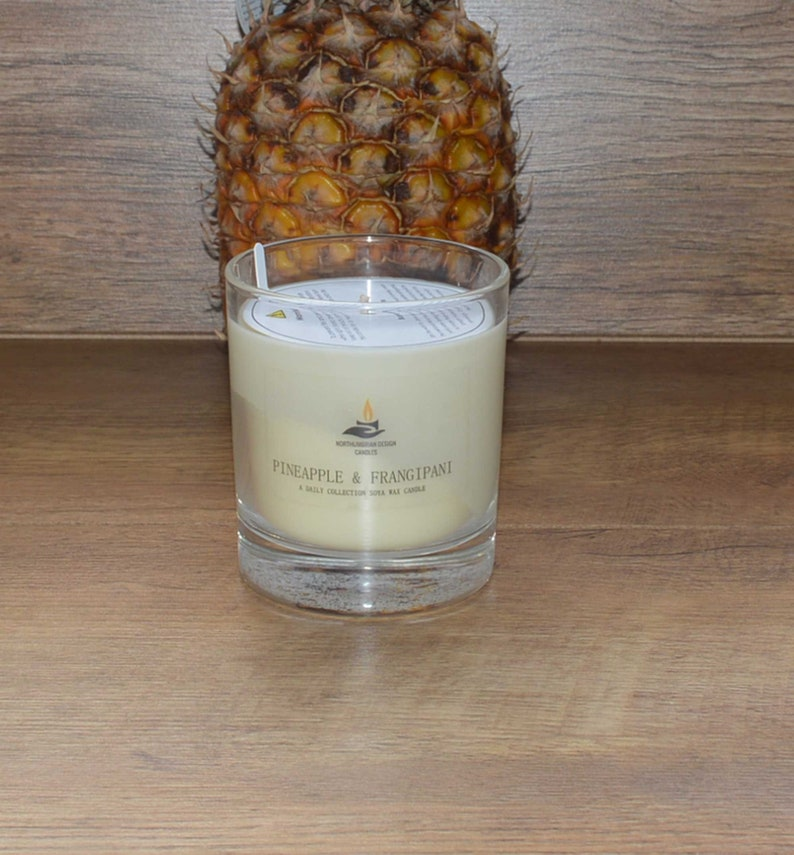 Pineapple & Frangipani  Scented Candle  Soy Candle  White image 0