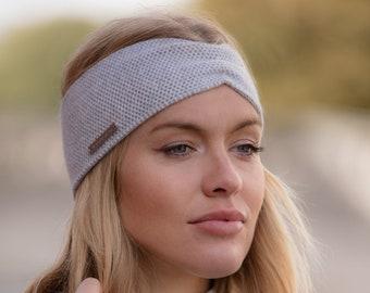 Ladies turban style cashmere ear warmer / headband