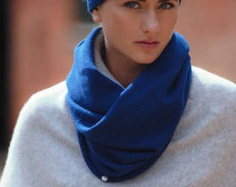 Pure cashmere snood / hood