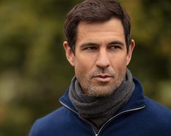 Men's cashmere snood, cashmere snood, cashmere neck warmer