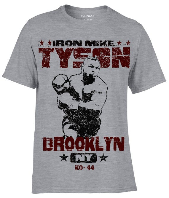 Mike Tyson Mens T shirt S-XL Retro Fashion Illustration Boxing Iron Sport