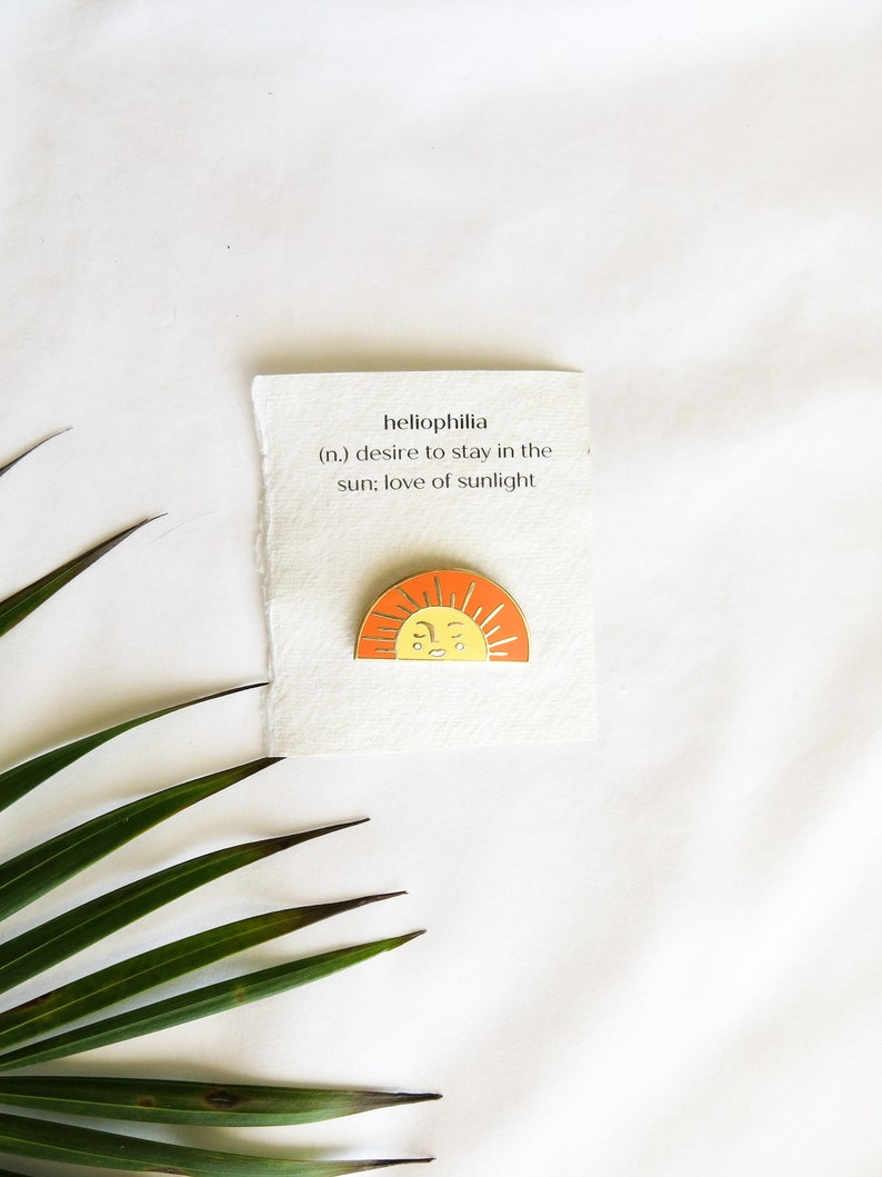 HELIOPHILIA sun enamel pin valentines day gift idea for her