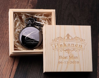 Personalized Gift for Man Groomsmen Proposal Pocket Watch Engraved Groomsmen Gift Groomsmen Pocket Watch Groomsman Gift Wedding Gift for Him