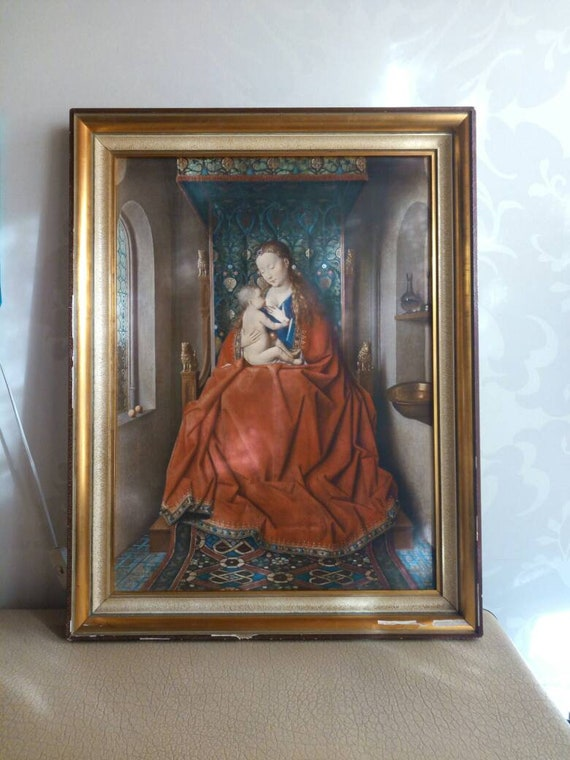 The Virgin Mary Jan Van Eyck 1429 - Painting Photo Poster Print Art Gift