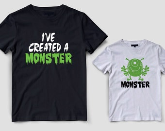 daddca1a Halloween I've created a Monster shirts for family, Monster family matching  shirts, Family matching t-shirts set, Daddy mommy and baby shirt