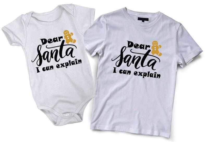 bc0221035 Dear Santa I can explain shirt Mommy daddy baby family | Etsy