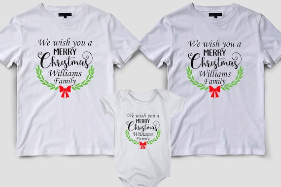 Matching Christmas Shirts For Family.Merry Christmas Shirts Family Matching Christmas Shirts Christmas Shirts Christmas Family Personalized Shirts Custom Family Name Shirt