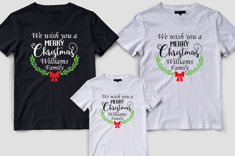 be983a0e Family matching Christmas shirts Christmas shirts Merry Xmas | Etsy
