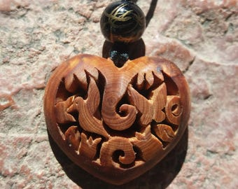 To order: Juniper wood Heart Necklace