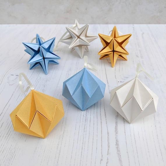 DIY Origami Star Decorations | Papier-hängeschmuck, Origami sterne | 570x570