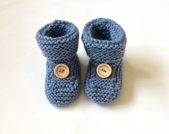 Baby booties, bootees, blue, boys, girls, gender neutral, Handmade with Love, baby gift ideas handmade