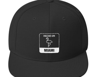 48cc0c2930076 Hecho en Miami Made In Snapback Hat