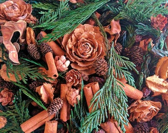 frasier fir handcrafted potpourri artisan botanicals holiday scent winter scent christmas tree scent