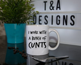 work mug office mug homour mug funny mug rude mug great gift idea secret santa gift adult mug office gift