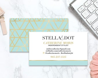 Stella and dot business cards etsy stella and dot business cards business cards independent stylist business cards colourmoves