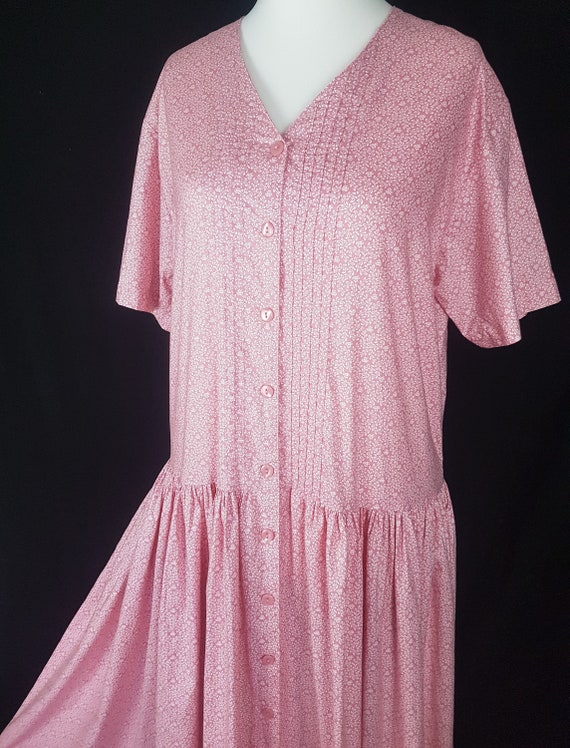 Laura Ashley Vintage Pink Summer Dress Size UK 18