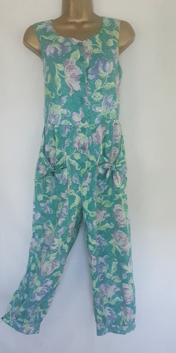 Vintage Laura Ashley Size Small Bright Summer Gree