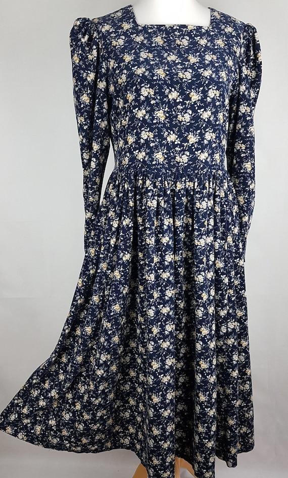 Laura Ashley Vintage Needlecord Dress Size UK 12 1