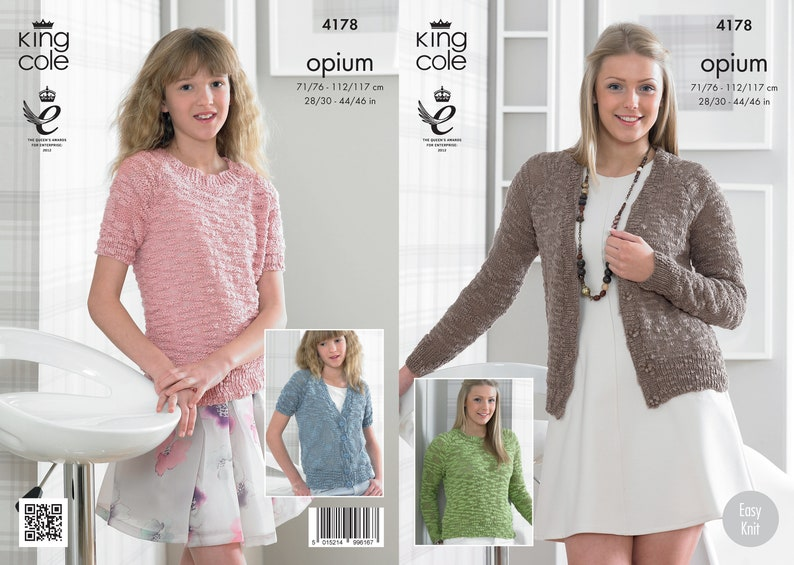 e724b441e Cardigan   Sweater in Long or short sleeves King Cole Opium