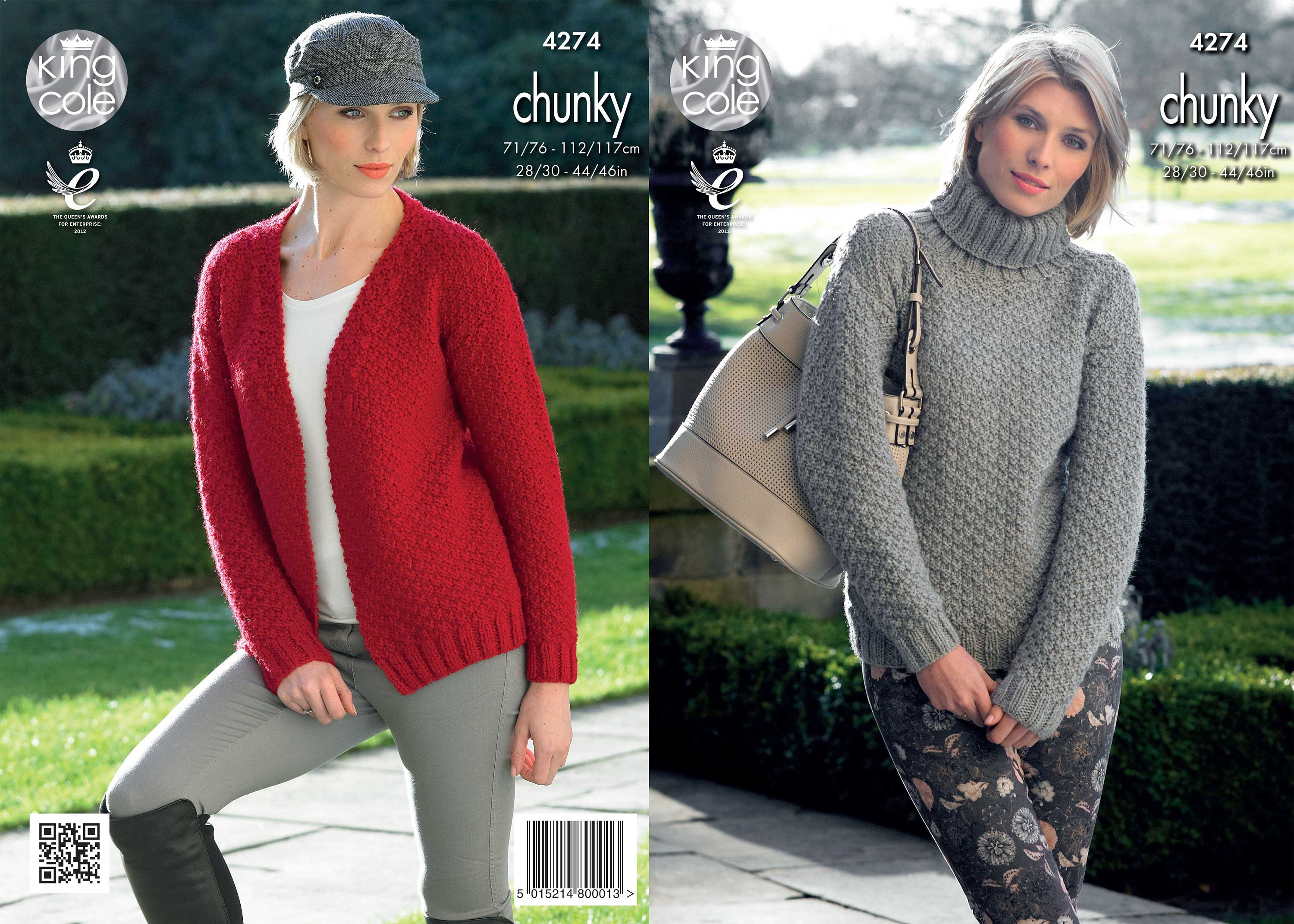 ff458eec5 Sweater and V-neck Cardigan Knitted with New Magnum Chunky