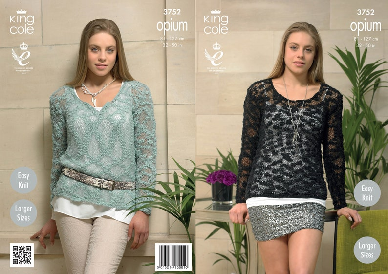 e5bd0b700 Ladies Sweaters Knitted with Opium Pattern 3752 Pattern