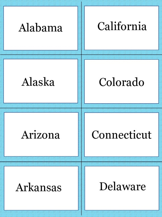 picture about State and Capitals Flash Cards Printable identify US Suggests and Capitals Flashcards