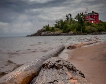 Marquette Harbor Lighthouse Driftwood Michigan Artwork