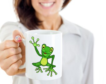 Tree Frog Mug Green Tree Frog Mug Original Art for a Great Gift