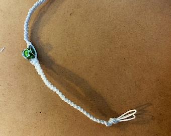 Spiral-encased bead bracelet