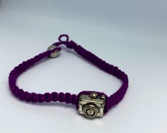 Camera Macramé Bracelet