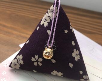 Premium Japanese textured fabric Bronze Apples N/' Thyme Japanese Waves on black Handmade Fabric cufflinks