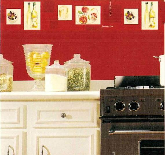 Kitchen Wallpaper Border Wallpaper Border Wallpaper Italian Etsy