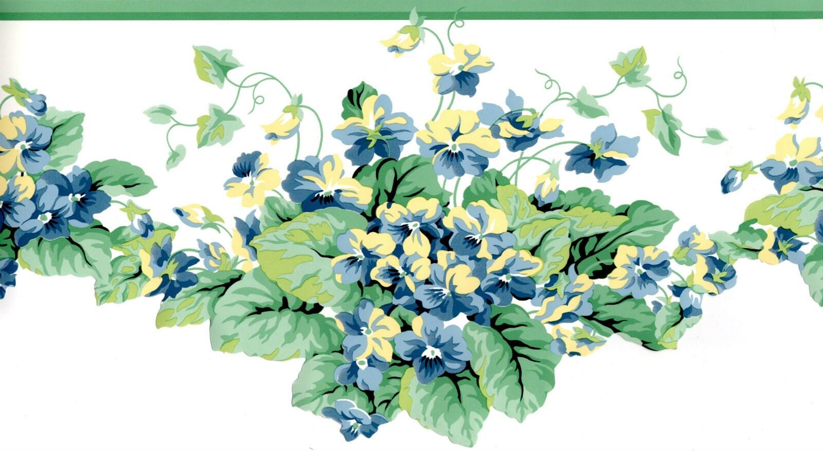Floral Leave Trail Wallpaper Border Tropical Leaf Wallpaper Etsy