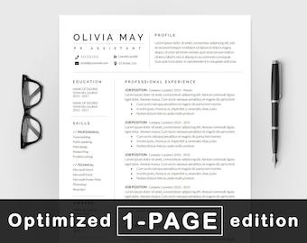 resume template professional resume cv template modern resume resume resume template word creative resume cv resume design - Etsy Resume Template