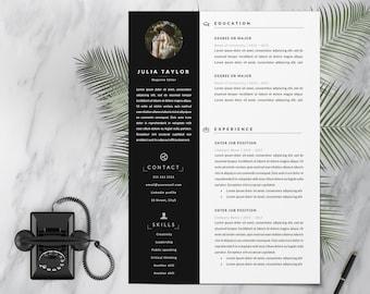 Resume Template | CV | Photo Resume | Modern Resume | Creative Resume | Professional Resume | Word CV Cover Letter | 1, 2 Page Resume | Word