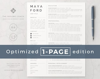 professional resume cv template