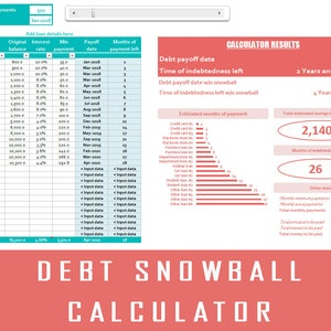 budget calculator etsy
