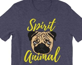 f82fda92 Cute Pug Shirt | Spirit Animal Tee Shirt | Pug Mom Tee | Pug Dad Shirt |  Pug Owner Gift Idea for Pug Lover | Dog Parent Shirt, Dutch Mastiff