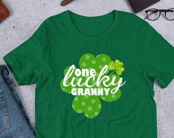 c3e7f972 One Lucky Granny Shirt | St Patricks Day Grandma Shirt | Grandmother Shit  for St Patricks Day | Lucky Grandma Tshirt | Cute Grandma Gift