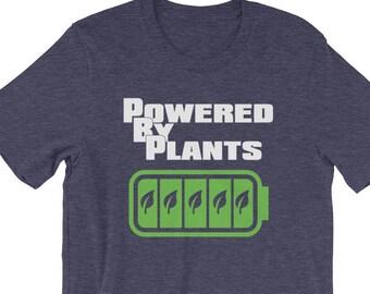 d9701541 Powered by Plants Shirt, Funny Vegan Gift, Plant Powered Shirt, Vegetarian  Tee, Vegan Humor, Vegan Clothing, Vegan Shirt for Men or Women